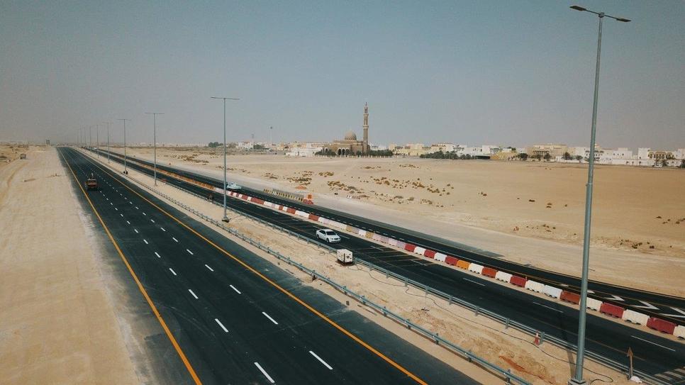 Bani Yas-Al Heeliya Road in Abu Dhabi.