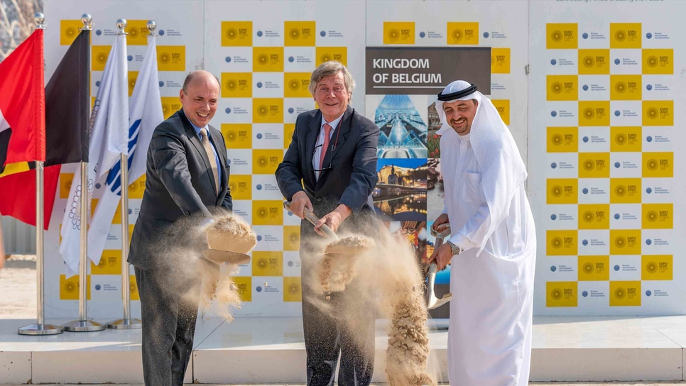 Ground has been broken on Expo 2020 Dubai's Belgium Pavilion.