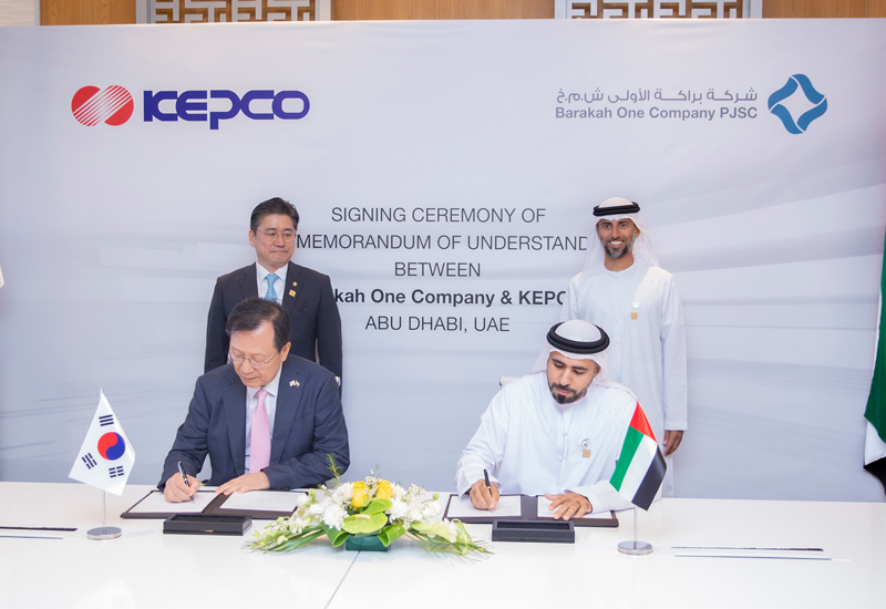 Barakah One Co and Kepco signed the MoU.