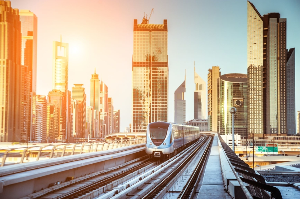 Dubai Metro was launched on 9 September 2009.