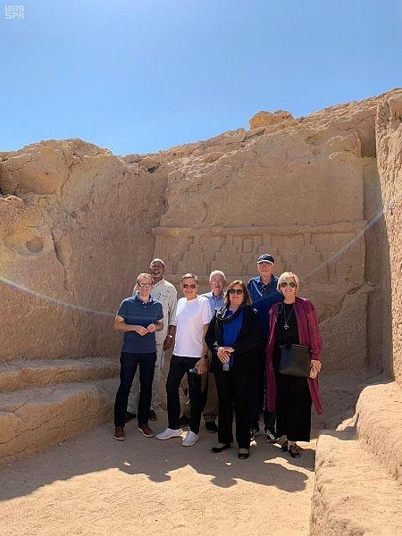The American visitors at Neom, Saudi Arabia.