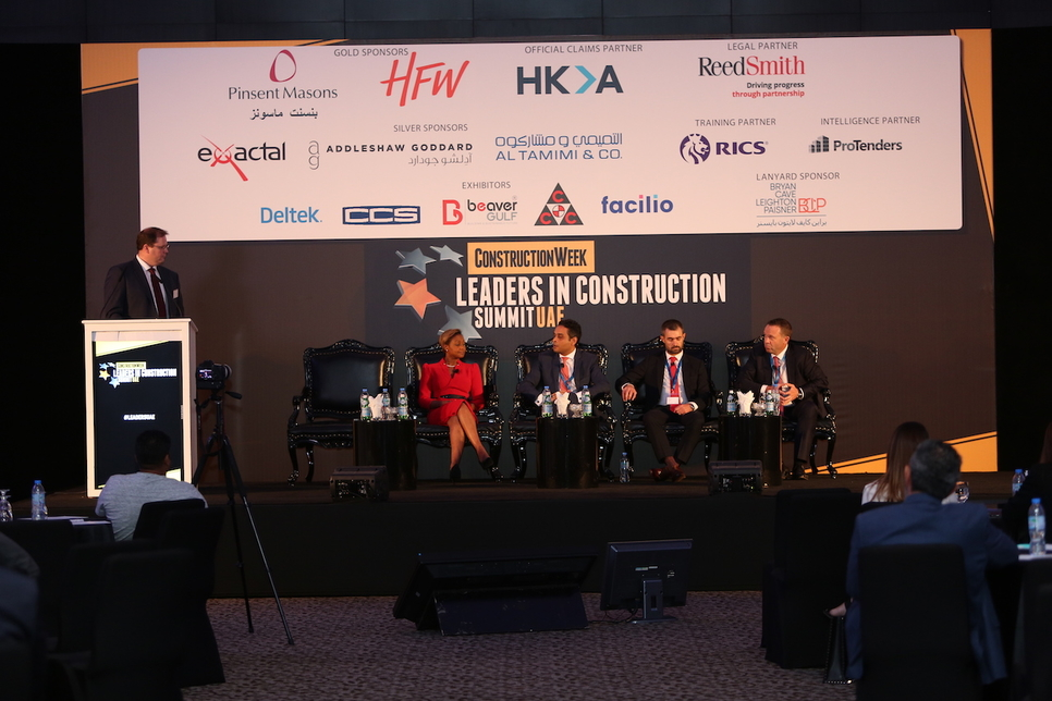 The panel at Leaders UAE 2019.
