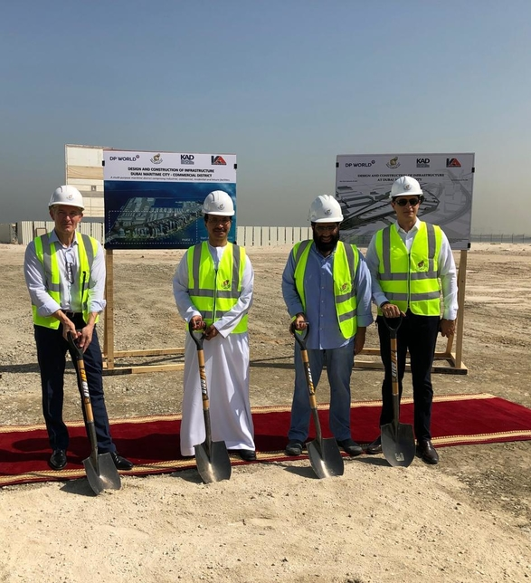 Work has started on Dubai Maritime City.