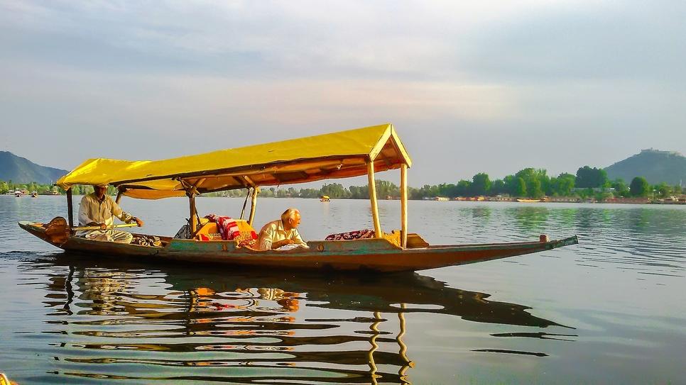 The scenic Dal lake in Kashmir.