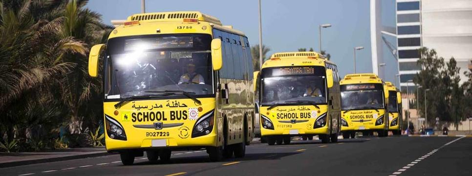 Emirates Transport provides school buses.