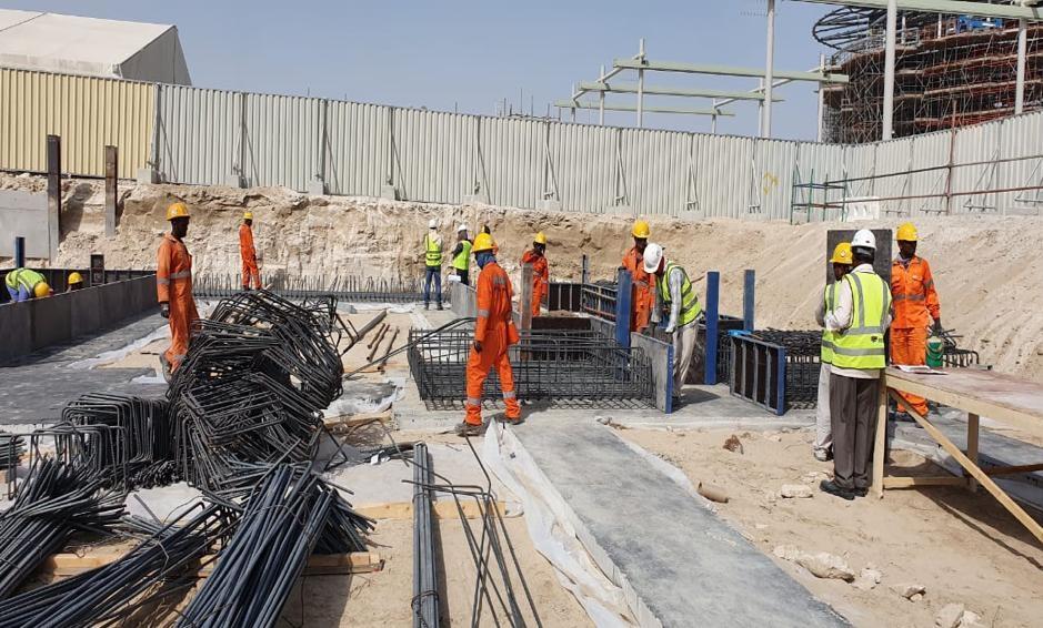 Work is under way on Expo 2020 Dubai's France Pavilion.