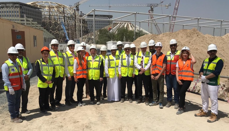 The site of Expo 2020 Dubai's Germany Pavilion.
