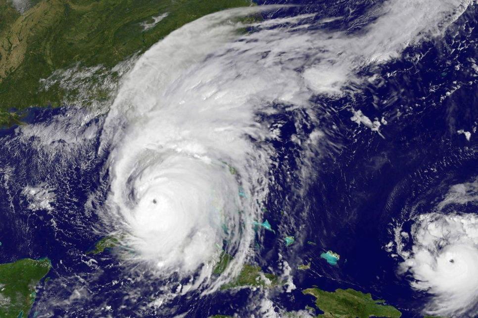 Hurricane Irma passes Cuba and nears Southern Florida on 10 Sep 2017 [NASA image].