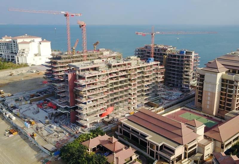 Serenia Residences during construction.