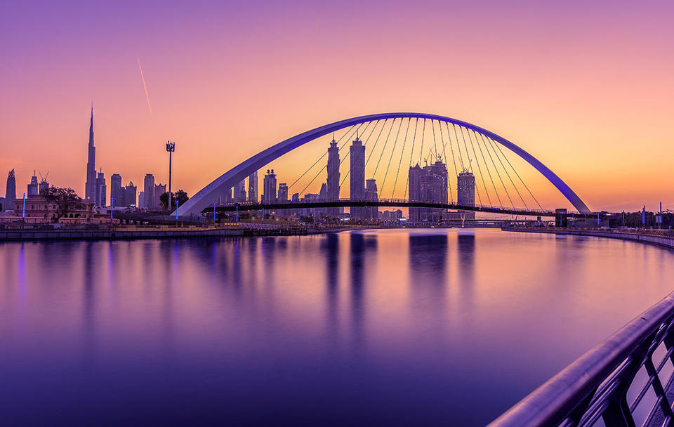 A view of Dubai Water Canal.