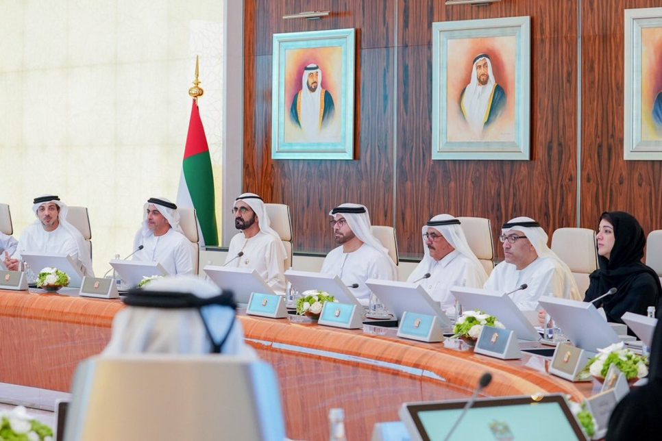 Sheikh Mohammed chaired the UAE Cabinet session.