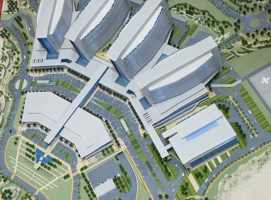 Sheikh Shakhbout Medical City in Abu Dhabi.