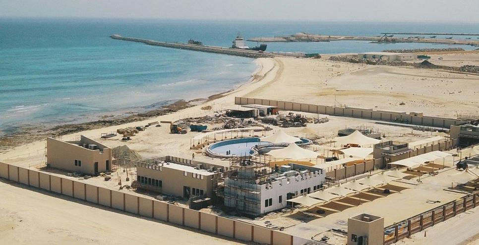 The women-only beach in Abu Dhabi's Al Dhafra.