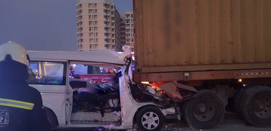 The accident occurred near Mirdif City Centre.