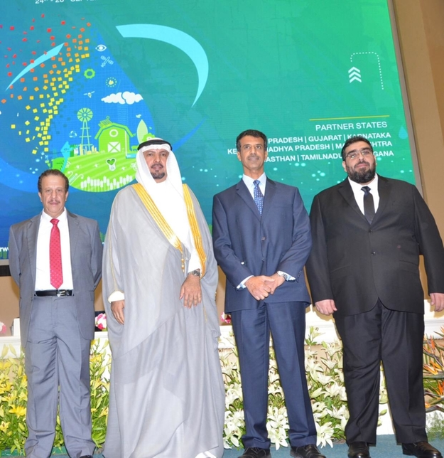 The Kuwaiti delegation at the India Water Week.