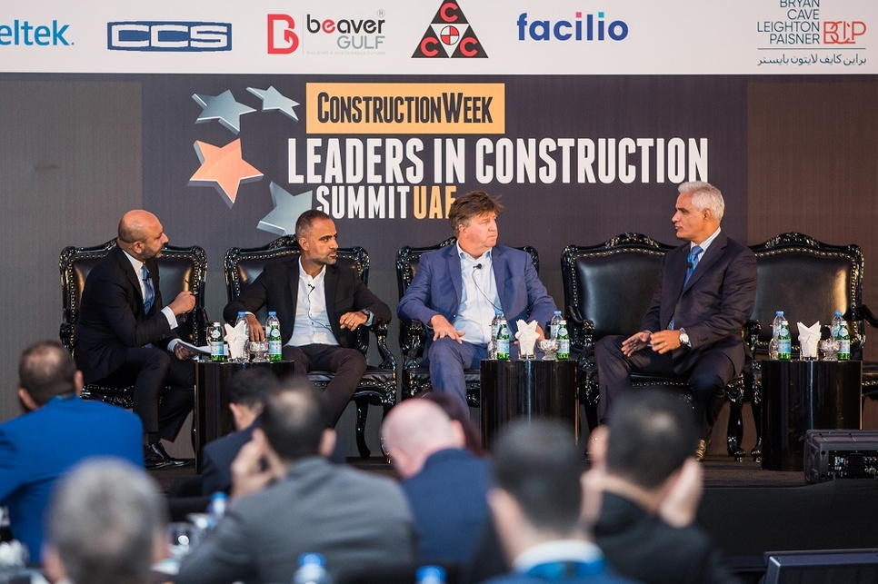 Top bosses from ALEC, Arada, and CSCEC ME at Leaders UAE 2019.
