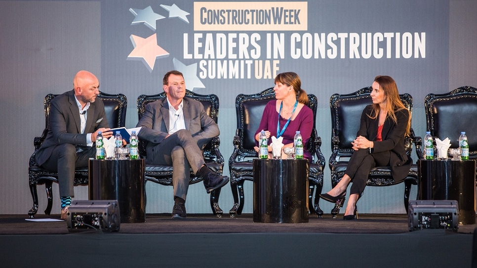 Industry leaders at the Leaders in Construction Summit UAE 2019.