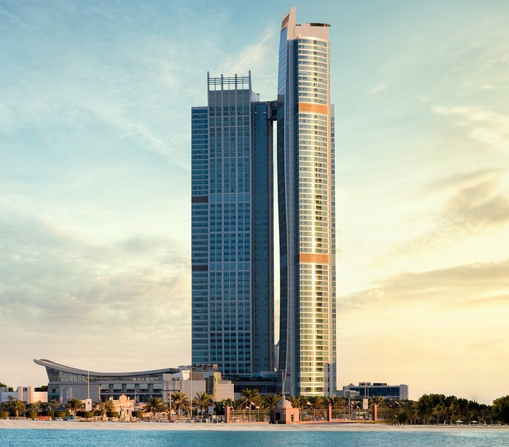 Nation Towers in Abu Dhabi.