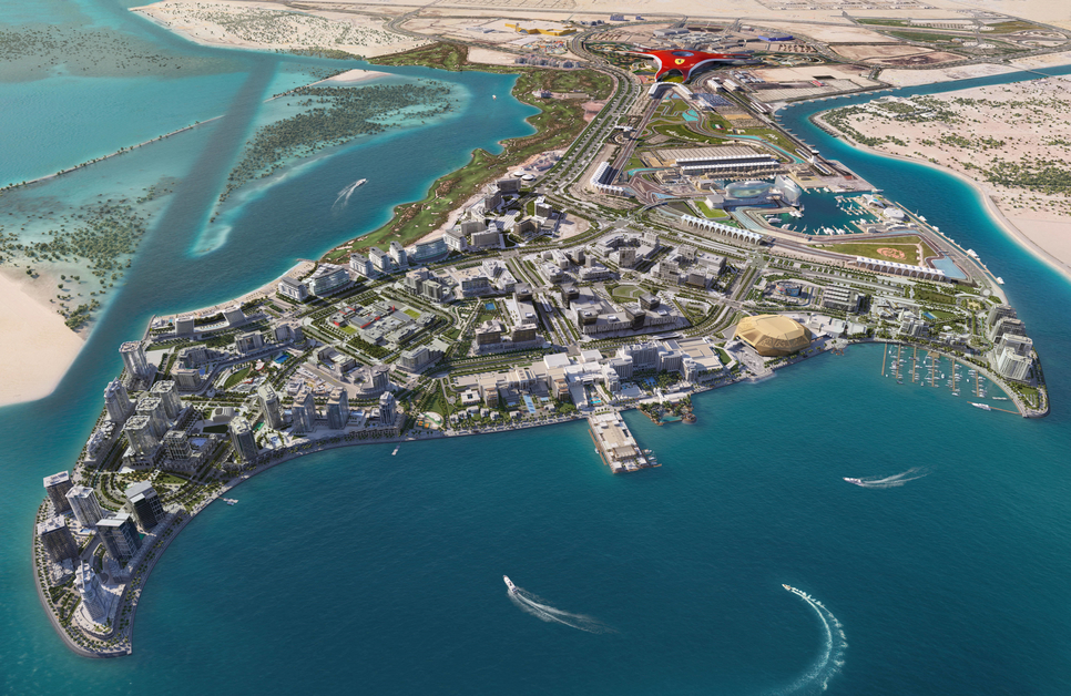 Yas Bay is a $3.3bn project in Abu Dhabi.