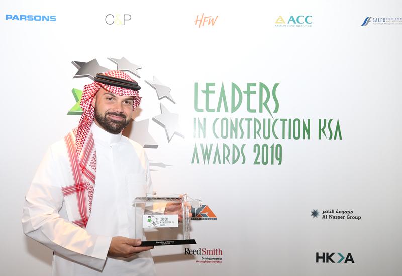 C&P's co-founder Faisal Bouzo at Leaders KSA Awards 2019.