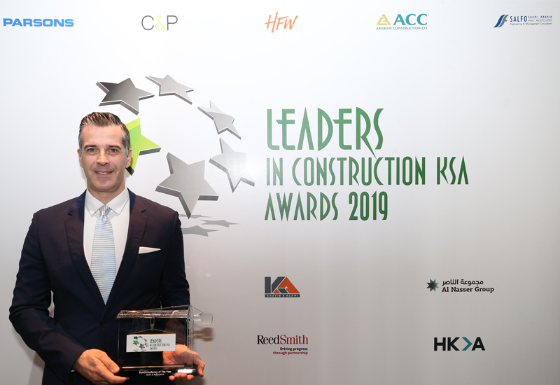 Konstantinos Dimitros with Salfo's Leaders KSA 2019 trophy.
