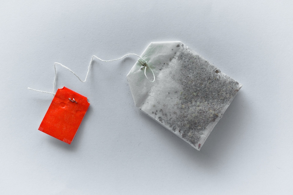 Some teabags contain traces of plastic [representational].