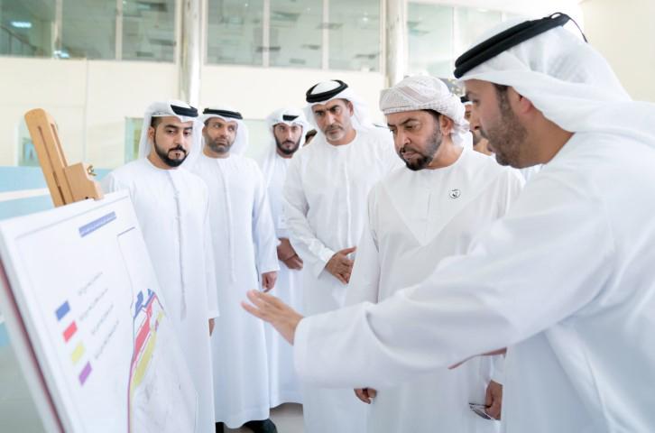 Sheikh Hamdan bin Zayed Al Nahyan during his visit.