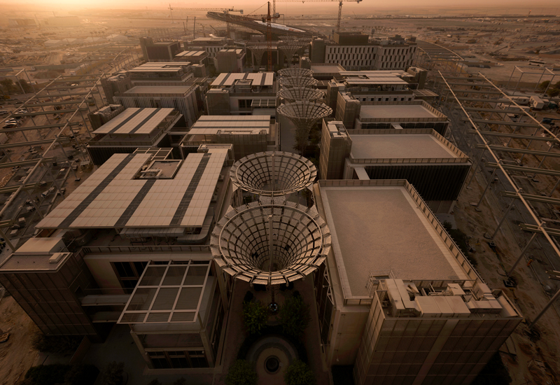 An aerial shot of the Expo 2020 Dubai's Sustainability District.