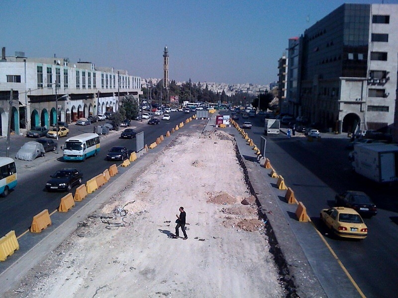 Greater Amman Municipality is supervising the project.