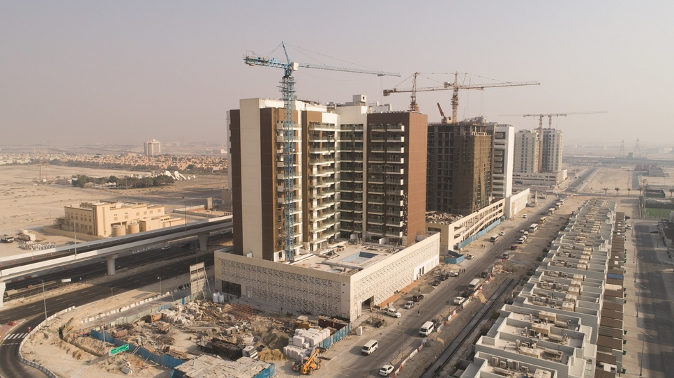 Construction of Azizi Developments' Samia project 93% complete. [supplied]