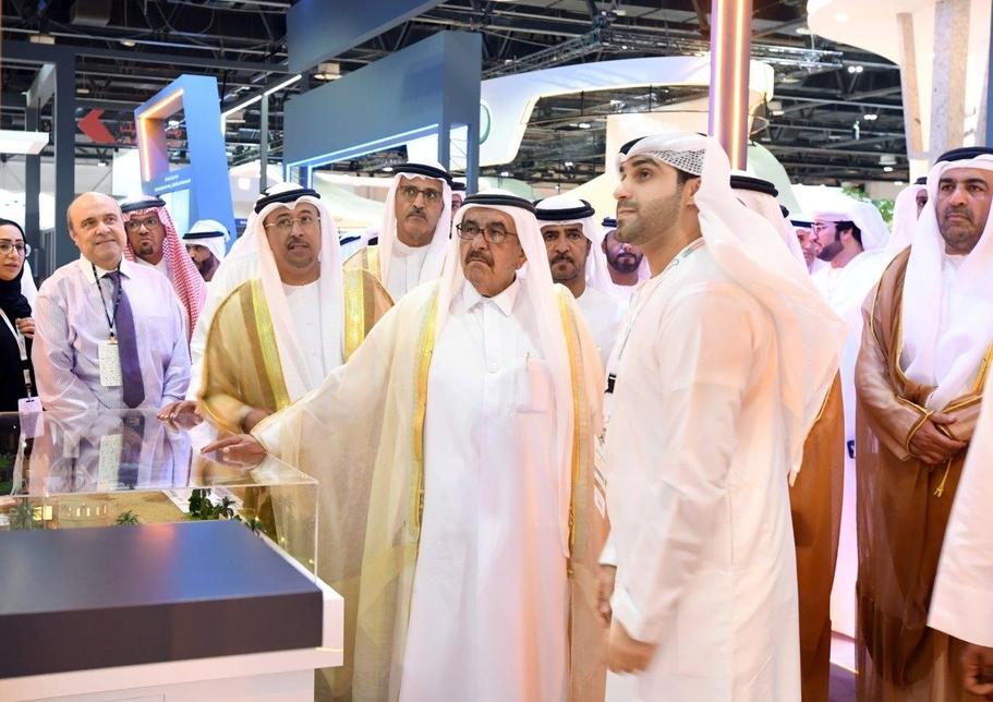 HH Sheikh Hamdan Bin Rashid Al Maktoum visits the Dubai Municipality stand at WETEX 2019