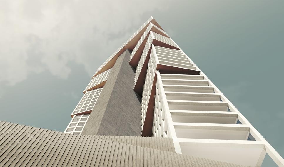 OMA's Iyad Alsaka, Reinier de Graaf reveal design for Kuwait's Wafra tower