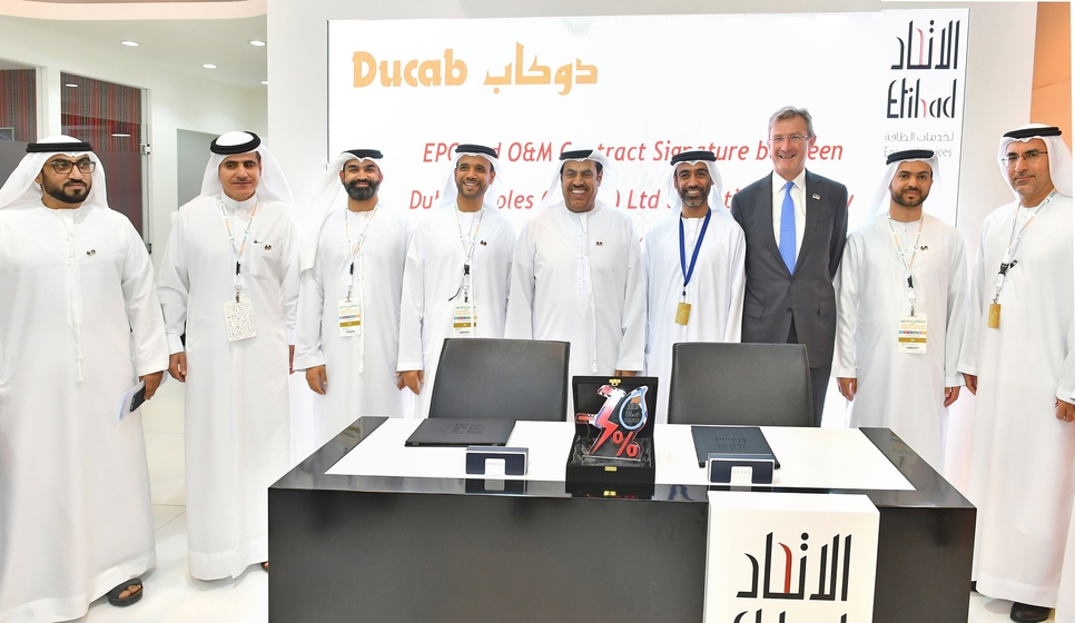 Ducab to supply its SolarBICC cables to Etihad Esco as part of the agreement.