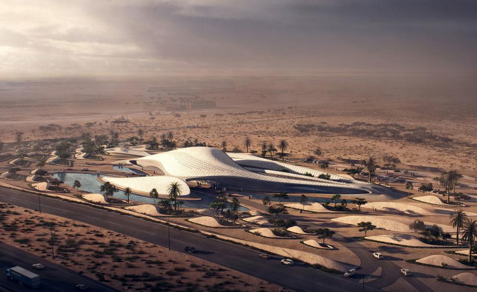 Bee'ah's new headquarters in Sharjah's Al Saj'ah is designed by Zaha Hadid.