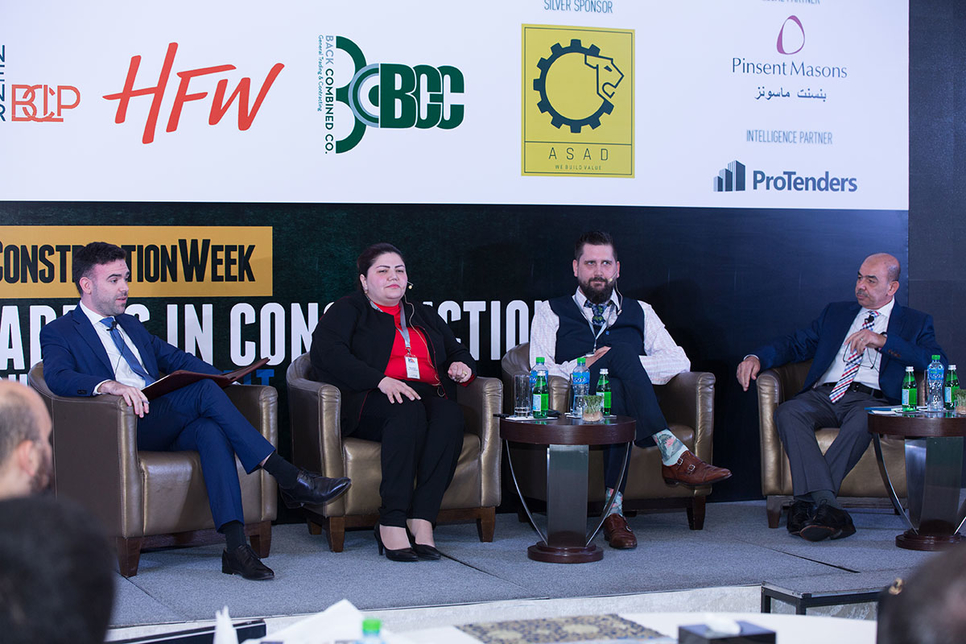 Panellists discussing diversification at Leaders Kuwait 2019.
