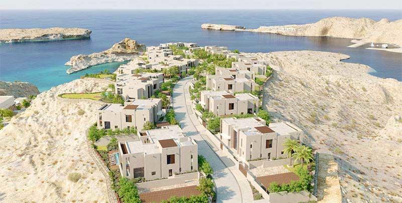 Oman's Muscat Bay villas.