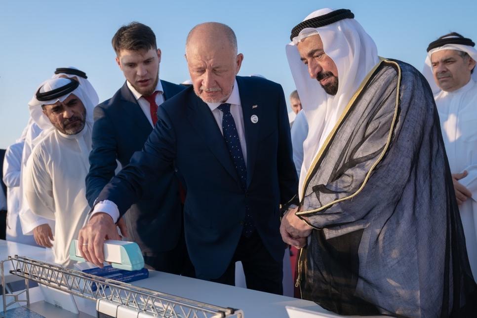 The Sharjah Ruler inspected SkyWay at SRTI Park.