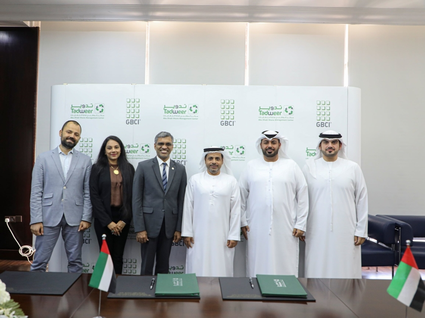 Tadweer, GBCI ink MoU on zero waste management