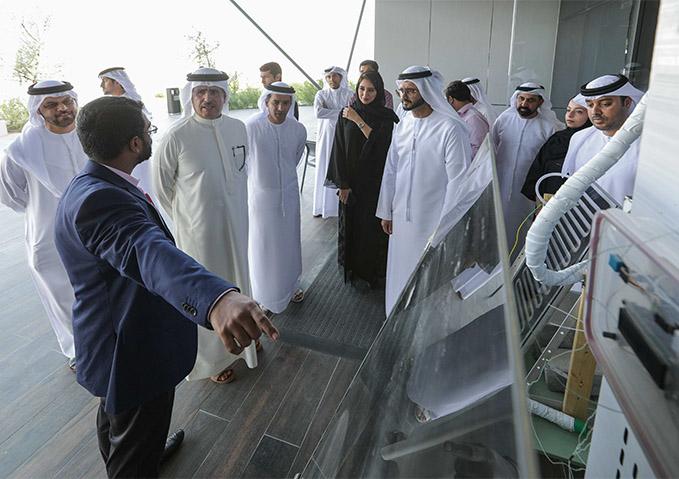 Dewa chief executive inspects R&D centre at MBR Solar Park