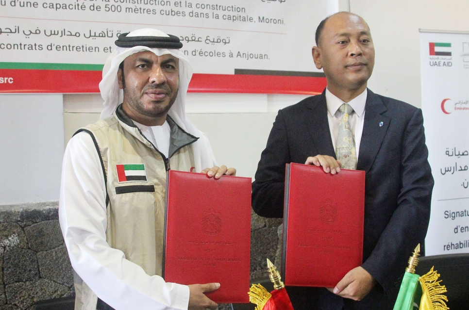 Emirates Red Crescent to develop $3.26m projects in Comoro Islands.