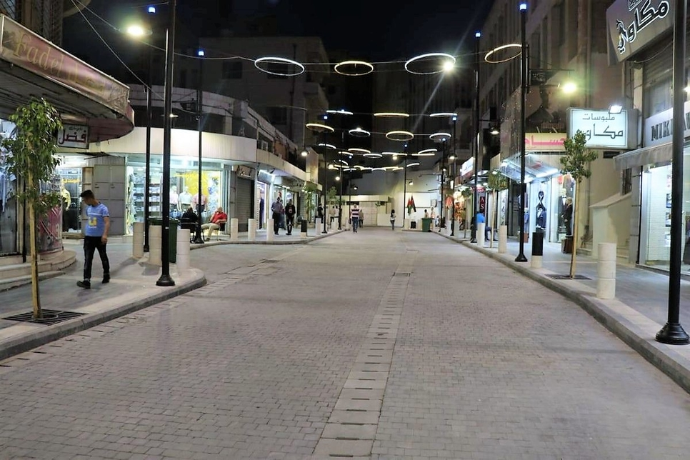The street housed nearly 220 taxis before renovation.