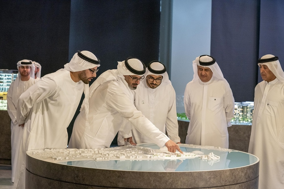 HH Sheikh Khalid bin Mohamed reviewed the project.