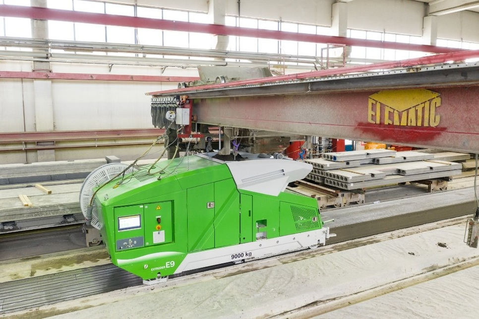 Elematic has launched its fully-automatic Modifier E9 concrete recycler and its concrete casting Extruder E9 machines