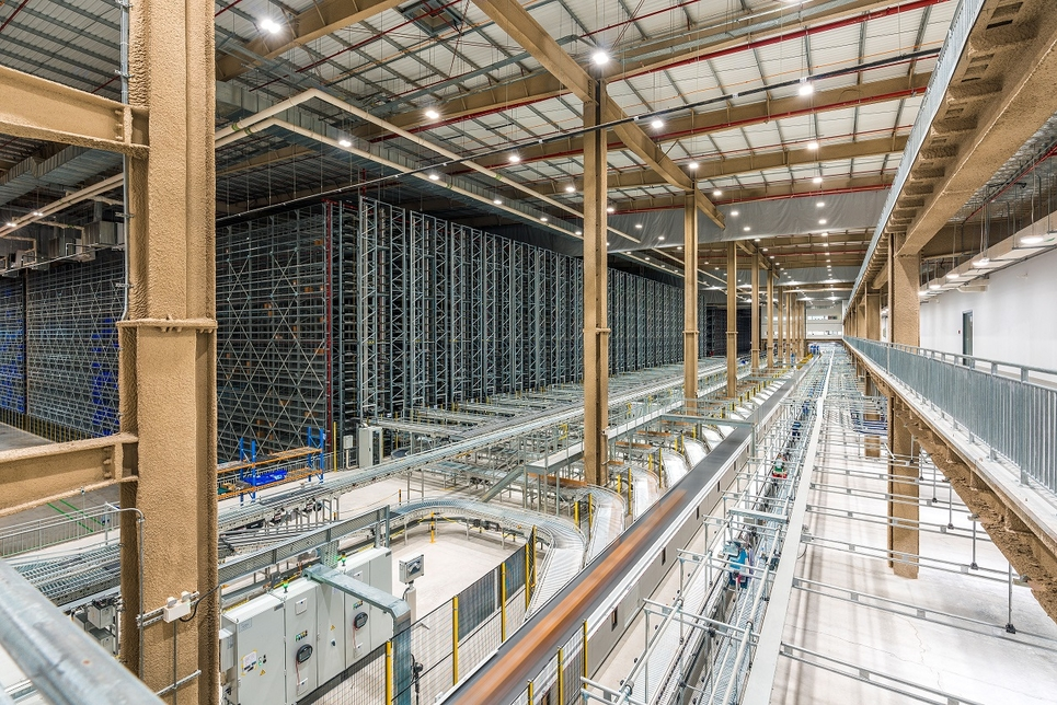 The 43 metre-high facility has a storage capacity of up to 2.2 million cartons.
