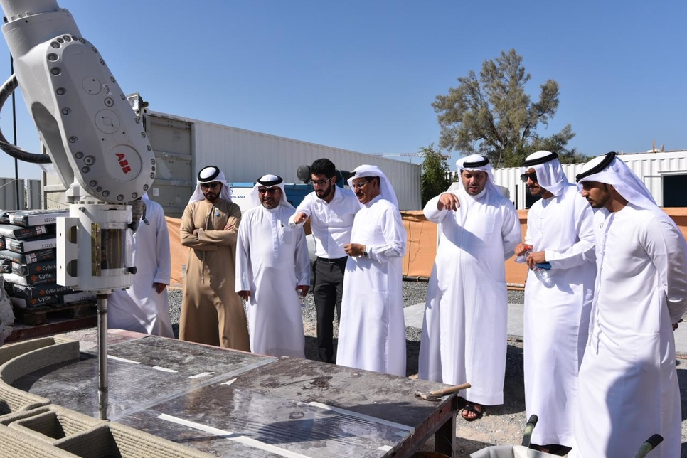 UAE Minister of Economy Sultan Al Mansouri inspects SRTI Park's sustainability projects