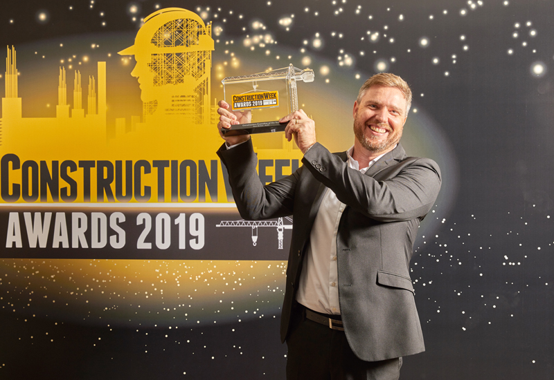 ALEC's Sean McQue (pictured) picking up the Construction Executive of the Year accolade