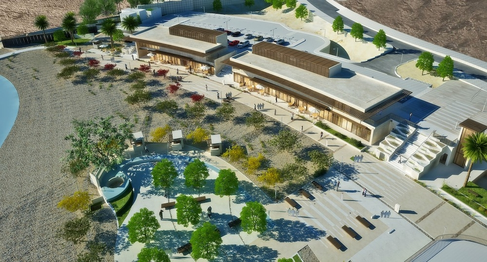 Village Square will feature open spaces covering 75% of the total project area.