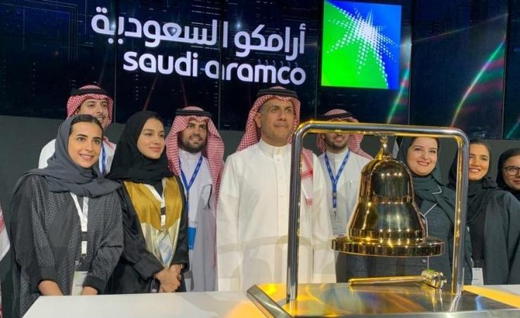 Saudi Aramco shares surge 10% on stock market debut