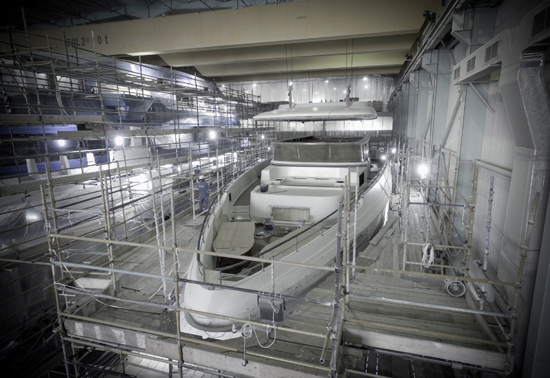 The Majesty 120 superyacht will be finished by March 2020