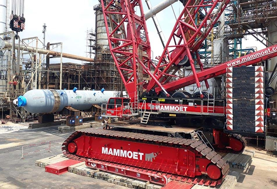 Mammoet used its PTC 35 ultra-heavy lift ring crane for the project. [representational]